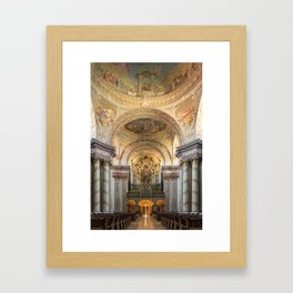 Organ of Herzogenburg Abbey church (Lower Austria) by Johann Hencke (1752) Framed Art Print