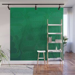 Round and About Emerald Wall Mural