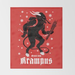 Krampus Throw Blanket
