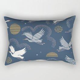 Cranes in the sunset sky Rectangular Pillow