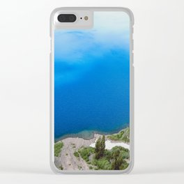 Crater Lake Cloud Reflection Clear iPhone Case