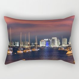 The Port of Punta Del Este at sunset - night, Uruguay. Rectangular Pillow