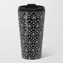Hand Drawn Hypercube Black Travel Mug