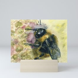 Watercolour Bumble Bee Mini Art Print