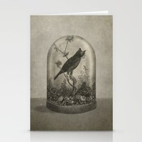 surrealism Stationery Cards featuring The Curiosity  by Terry Fan