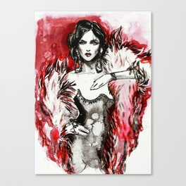 Red fur for her Canvas Print