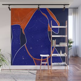 NEED SOME SPACE - Illustration, Space, Galaxy, Girl Wall Mural