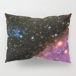 Fireworks in Small Magellanic Cloud dwarf galaxy (NASA/ESA/Hubble) Pillow Sham