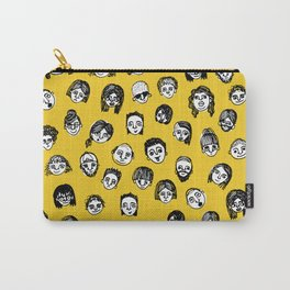 So Many People (Yellow) Pattern Print Carry-All Pouch