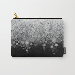 Snowfall on Black Carry-All Pouch