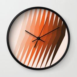 Desert Dusk Lanes Wall Clock