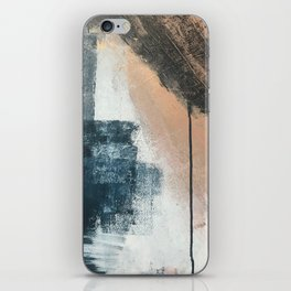 Honey 1: a pretty, minimal abstract in midnight blue, rose gold, and white iPhone Skin