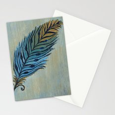 Tri-Color Feather Stationery Cards