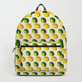 Vintage Lemon and Lime Pattern Backpack