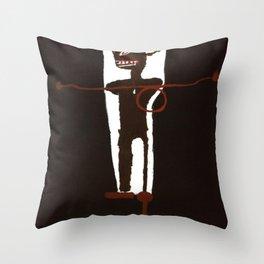 Basquiat Gri Gri Throw Pillow