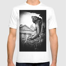 Place de la Concorde Fountain, Paris, France Mens Fitted Tee MEDIUM White