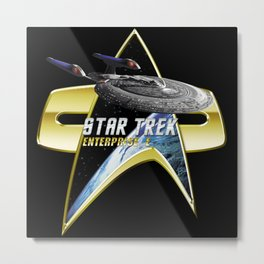 StarTrek Enterprise E Com badge Metal Print