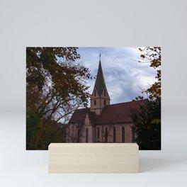View to the Monastery church of Blaubeueren Mini Art Print