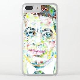 TAYEB SALIH - watercolor portrait Clear iPhone Case