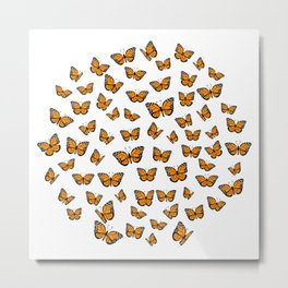Papillons Metal Print