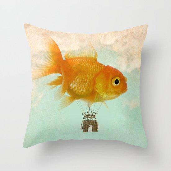 balloon fish 03 Throw Pillow