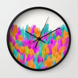 Lula Festive Abstract Brushstrokes Wall Clock