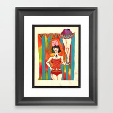Strong woman Framed Art Print