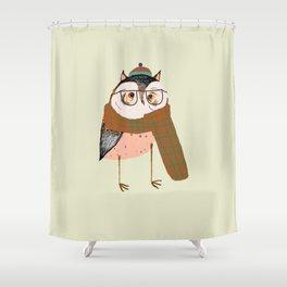 Owls Love Scarfs.  Shower Curtain