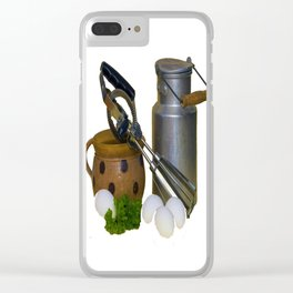 Milk Can Vignette Clear iPhone Case