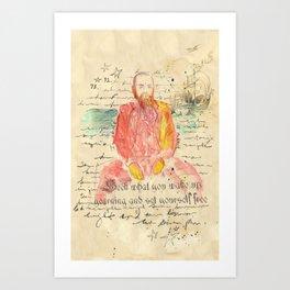 Man at Sea Art Print