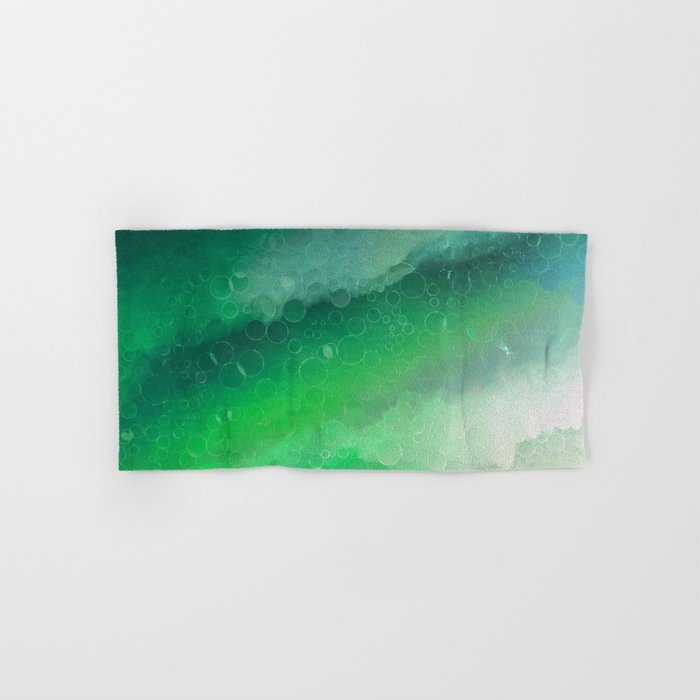 Shades Of Emerald Green Jewel Abstract Hand Bath Towel