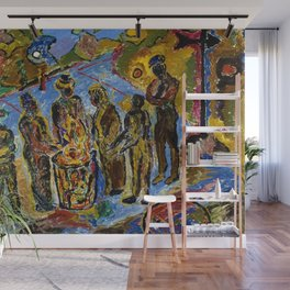African American Masterpiece 'Can Fire in the Park' by Beauford Delaney Wall Mural