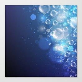 Illustraiton of underwater background with light rays Canvas Print