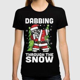 Lhasa Apso Dabbing Through The Snow Christmas T-shirt