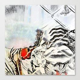 Burn Barrel Canvas Print