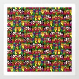 Red Hot Chili Pattern 02 Art Print