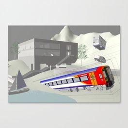 Concentric Train Boxes Canvas Print