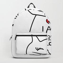 Cutie Cat - I am not alone  #society6 #printart #decor #buyart Backpack