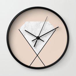 Marble diamond Wall Clock
