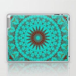 Mandala Fractal in Oxidized Copper 2 Laptop & iPad Skin