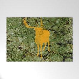 Deer on Green Camo Welcome Mat