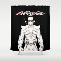ninja Shower Curtains featuring Ninja by Afaalstore