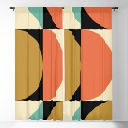 Mid Century Modern Geometric Abstract 235 Blackout Curtain