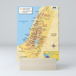 Map of United Israelite Kingdom Mini Art Print
