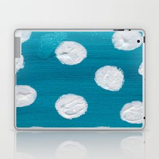 Blue & White Polka Dots Laptop & iPad Skin
