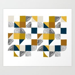 Square, Dots and Lines Art Print