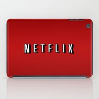 netflix iPad Cases featuring Netflix Logo by TParish Productions