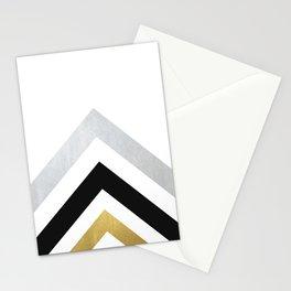 Minimalist Geometric - Black & Gold Stationery Cards