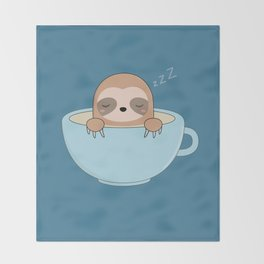 Cute Kawaii Baby Sloth Throw Blanket