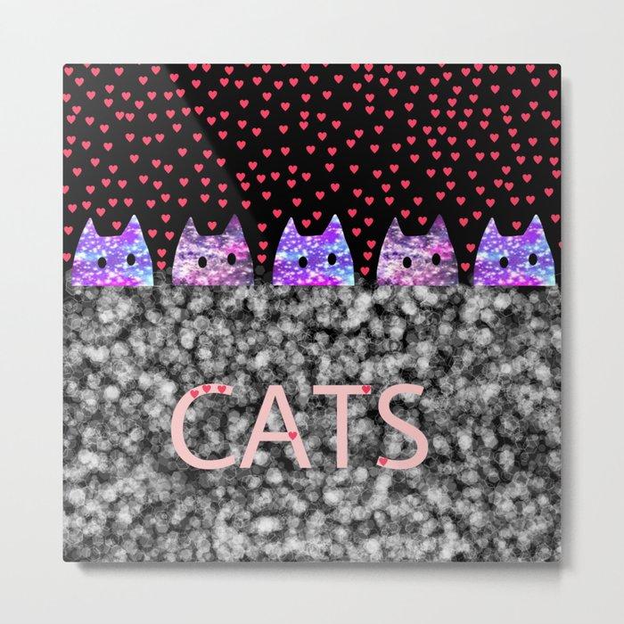cats-77 Metal Print